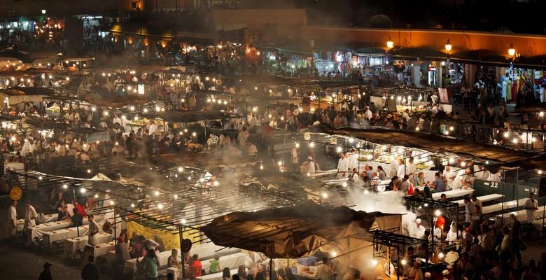 Jamaa El Fna square by night