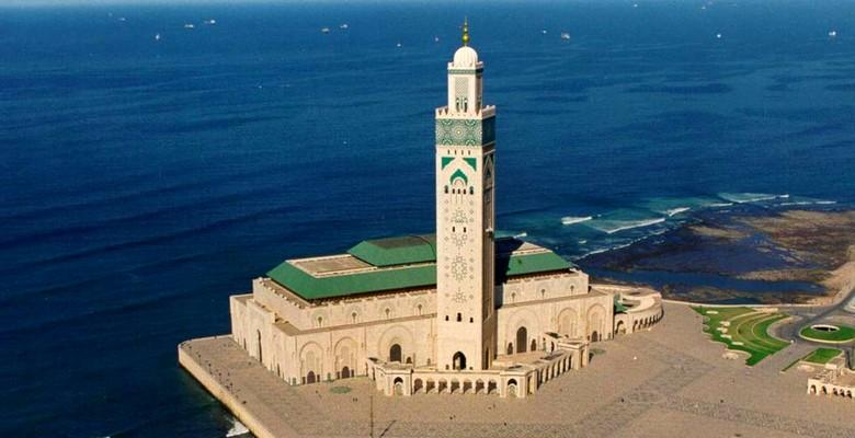 Hassan ll mosque in Casablanca