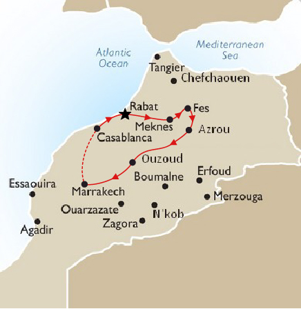 Imperial cities of Morocco Tour starting from Casablanca